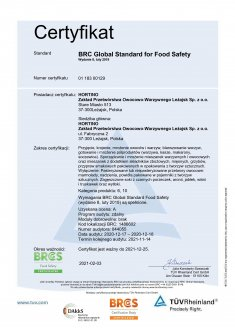 BRC Global Standard for Food Safety