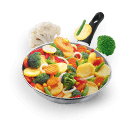 Vegetables on Fryingpan - icon